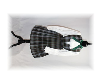Schoolgirl Costume / School Girl Lolita / Plaid Jumper-Large (B19)