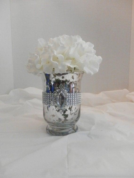 Wedding centerpiece mercury glass vase by eebdesigns