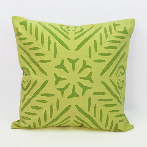 Patterns For Decorative Pillows Covers : Applique Patterns Apple Green Pillow Covers 16x16 by UrbanHutch