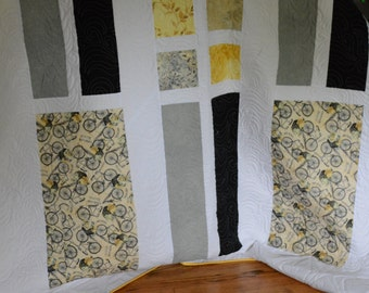 Yellow and White Modern Quilt