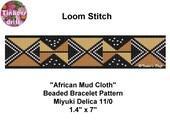 African Mud Cloth Loom Beaded Bracelet Pattern