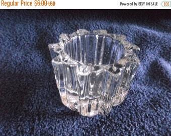 Summer Sale 25% Vintage Avon Votive Round Clear Glass Votive Candle Holder