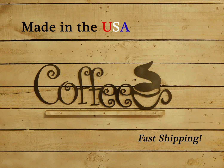 Metal Coffee Sign Coffee Shop Sign Coffee Mug Sign Coffee Decor Outdoor