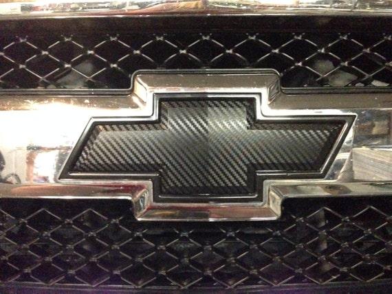 3d Carbon Fiber Vinyl Chevy Bowtie Emblem Overlays Decal Wrap