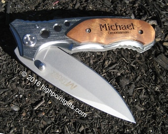 Pocket Knife Groomsman Pocket Knife - Groomsman Gift - Groomsmen Gift - Best Man Gift - Father of the Bride Gift - Groom Gift