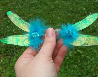 OOAK beautiful soft romantic iridescent dragonfly fairy wings RD1