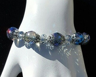 Crystal Prism Stretch Bracelet