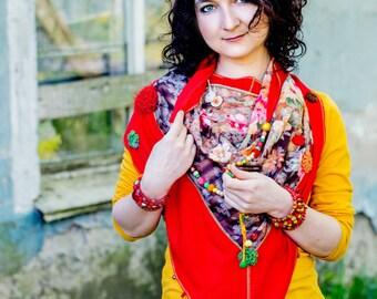 Women  neckerchief. Neckerchief-summer neckerchief-floral neckerchief-floral shawl