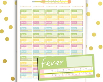 pain tracker stickers printable body diagram planner