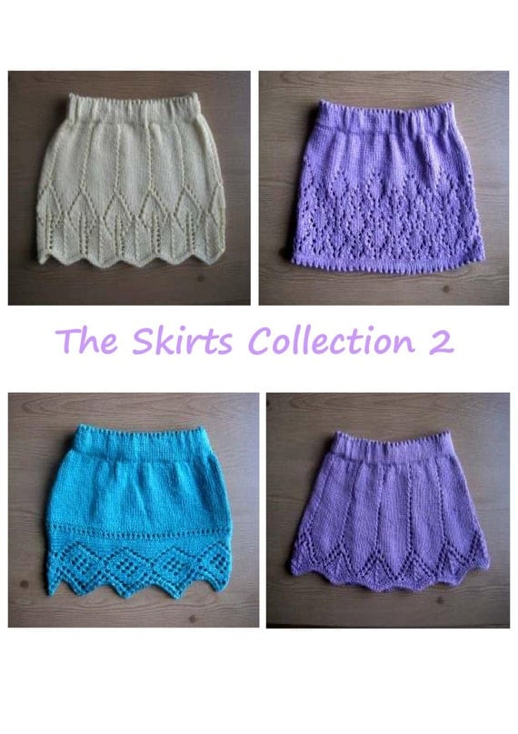Girls Skirt Knitting pattern collection E-Book 4