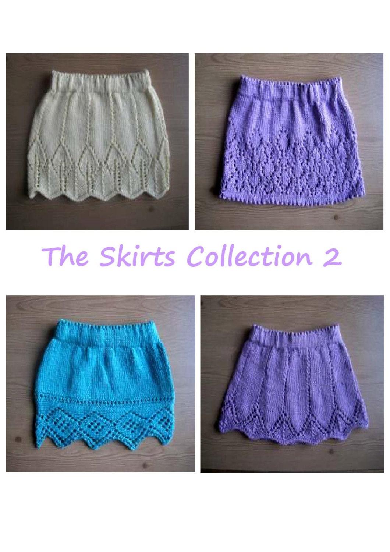 Knitting Skirt Girl : Girl s skirt knitting pattern collection e book