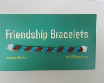 Diagonal friendship bracelet  (d13)