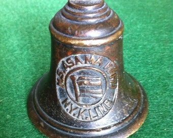 Maiden Voyage Commorative Souvenir Bronze Bell from the M.S. Asama Maru