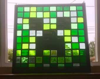 Stained Glass Minecraft Creeper Panel