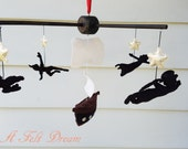black silhouette mobile, Pirate mobile, Neverland mobile, Neverland decor
