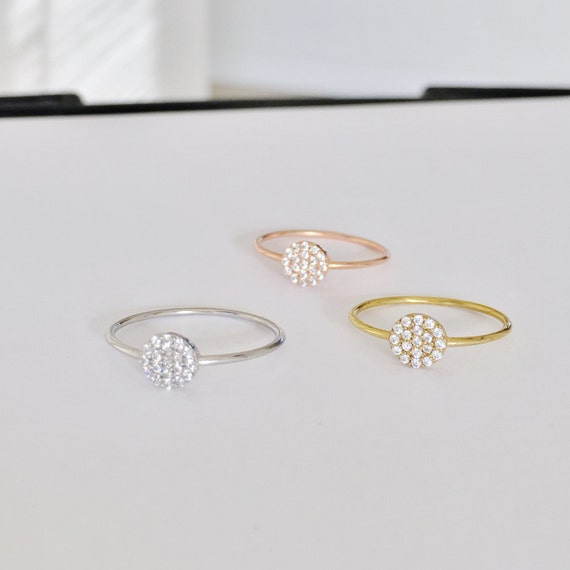 Round pave rings with dazzling zirconia perfect for every outfit, Safe to get wet