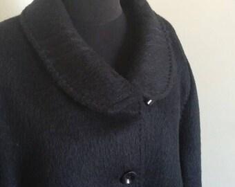 Vintage 60s plussize llama woolblend coat