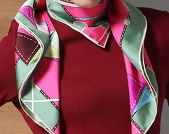 16 momme pure silk twill scarf squre silk scarf 34*34 inches