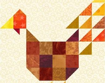 Scrappy Turkey Quilt Block Pattern Download