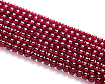 50% SALE - Natural 6A Claret Burgundy Garnet Beads For Women 4mm-7mm 1pc string-WEN37795592553-MAY