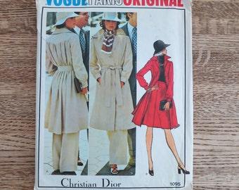 Vintage 1970s, Vogue Paris Original, Christian Dior, sewing pattern 1095. Size 10. Uncut