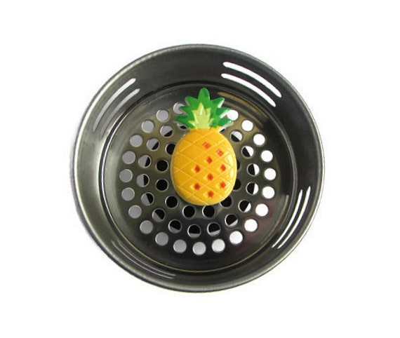 Sink strainer pineapple decor tropical decor pineapple - Decorative kitchen sink strainers ...
