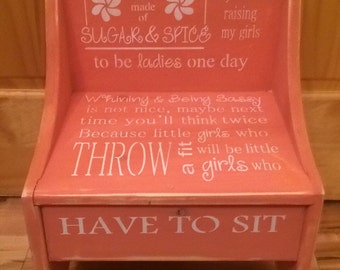 Girls Timeout Chair