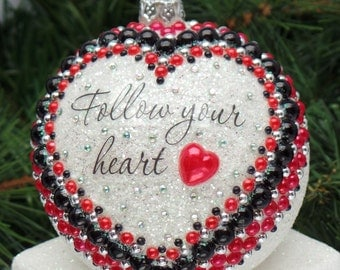 Follow Your Heart Christmas Ornament