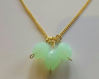 Pale green beaded necklace
