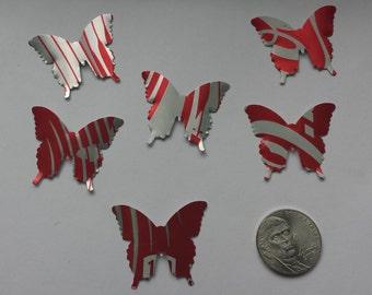 6 Butterflies (soda can die cuts)