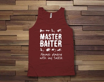 Master Baiter fishing tank top, fishing trip t-shirt, fishing weekend tshirt, lucky fish shirt, father's day fishing,summer tank top -CT-067