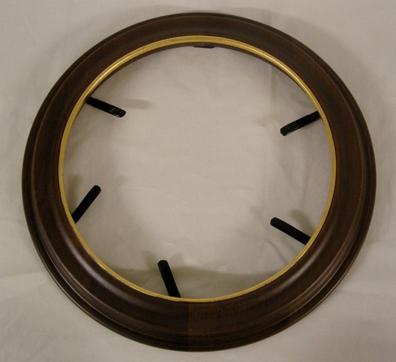 Decorative Wooden Plate Frames Gold Rimmed The Richfield