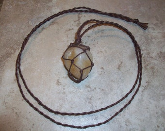 Citrine Hemp Necklace