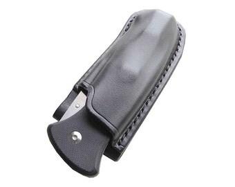 Custom Leather Sheath for Al Mar SERE 2000 or Mini Folding Knife, Handmade