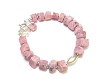 Ethnic bracelet - Rubi gross and Silver 925
