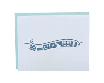 Box of 6 // Newport Nautical Flag Letterpress Card