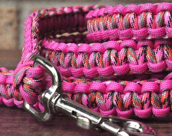 Pink Paracord 6ft Dog Leash