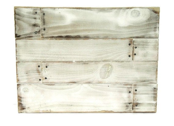 Rustic Wood Sign White Washed Torched Sign Rustic Wood