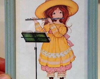 framed vintage illustration