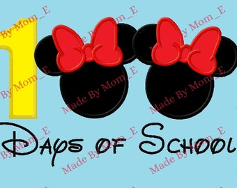 Mrs Mouse 100 Days of School Applique