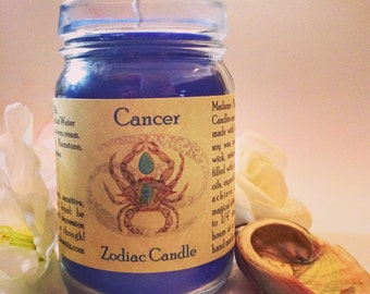 Zodiac Magic Spell Astrological Candle Cancer Sign