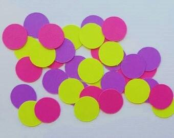 Yellow, Pink and Purple Confetti