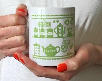 Welsh Dresser Mug - Welsh Mug - Welsh Kitchen Mug - Wales Mug - Welsh Kitchen - Gift From Wales