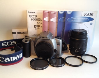 Canon Rebel EOS 35mm Film SLR Camera Zoom Lens UV Polarizer