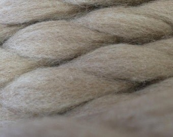 Natural Oatmeal-Colored Tasmanian Polwarth Roving by-the-ounce