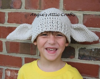 ANY SIZE Dobby House Elf Inspired Hat - Harry Potter - Halloween Costume - Photo Prop - Winter Hat - Baby/Toddler/Child/Adult Sizes