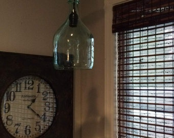 large  wine bottle pendant light
