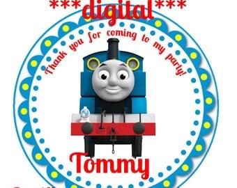 Thomas the Train Thank you tags,Thomas the Train stickers,Thomas the Train birthday favors,Thomas the Train labels,Thomas thank you tags;