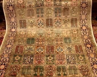 "Persian Bakhtiari Kashmir Silk Rug 7'5"" X 5'1"""
