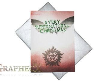 Fan-made Supernatural inspired Christmas Holidays card